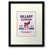 Hillary Clinton 2016 - Democrat Framed Print