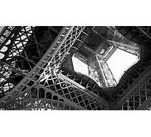 Eiffel Tower Steelwork Photographic Print