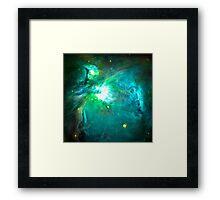 Orion Nebula [Green] | Fresh Universe Framed Print