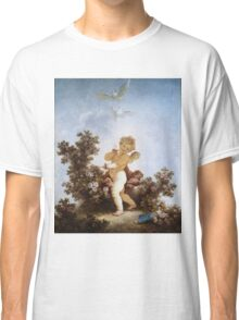 Jean-Honore Fragonard - Love The Sentinel 1790. Child portrait: cute baby, kid, children, pretty angel, child, kids, lovely family, boys and girls, boy and girl, mom mum mammy mam, childhood Classic T-Shirt
