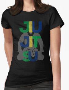 Jiu Jitsu Graphic Letter Womens Fitted T-Shirt