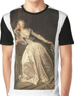 Jean-Honore Fragonard - The Stolen Kiss. Lovers portrait: sensual woman, woman and man, kiss, kissing lovers, love relations, lovely couple, family, valentine's day, sexy, romance, female and male Graphic T-Shirt