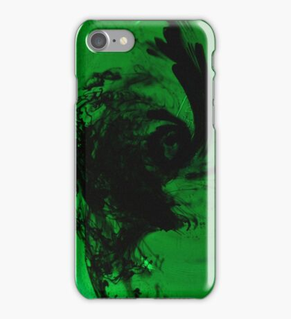WHEN BLACK MEETS GREEN iPhone Case/Skin