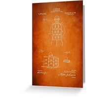 Soldier Armor Patent 1919 Greeting Card