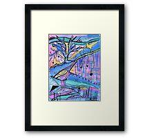 Kiss and Hug Tree Framed Print