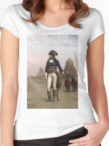 Jean-Leon Gerome - Napoleon In Egypt. Man portrait: strong man, boy, male, beard, business suite, masculine, boyfriend, smile, manly, sexy men, mustache Women's Fitted Scoop T-Shirt