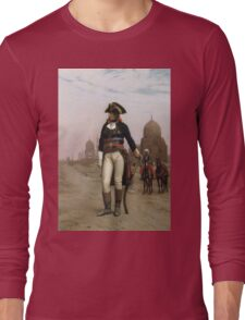 Jean-Leon Gerome - Napoleon In Egypt. Man portrait: strong man, boy, male, beard, business suite, masculine, boyfriend, smile, manly, sexy men, mustache Long Sleeve T-Shirt