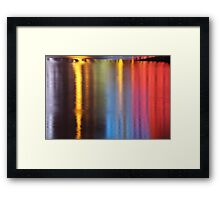 Night Time Reflections of Macau # 1 Framed Print