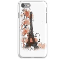 Artistic Paris Eiffel Tower design iPhone Case/Skin