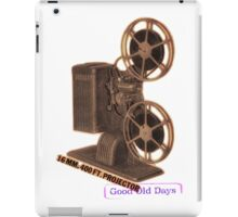vintage movie projector iPad Case/Skin