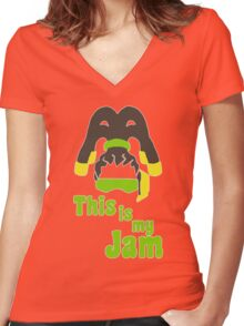 This Is My Jam - Lucio Women's Fitted V-Neck T-Shirt