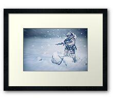 Snow soldier Framed Print