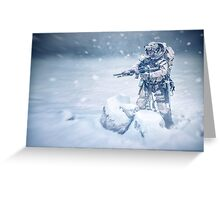 Snow soldier Greeting Card