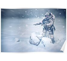 Snow soldier Poster
