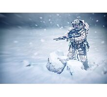 Snow soldier Photographic Print