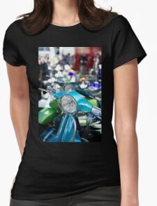 Vespa Scooters Womens Fitted T-Shirt