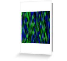 WAVY-1 (Blues & Greens)-(9000 x 9000 px) Greeting Card