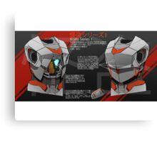 Kaito Series 1 Schematics Canvas Print