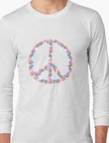Floral Peace Long Sleeve T-Shirt