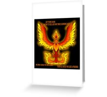 The Phoenix- Fall Out Boy Greeting Card