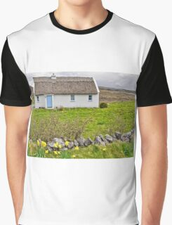 rural irish cottage in the burren countryside, county clare, ireland Graphic T-Shirt