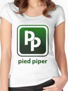 Pied Piper New Logo Shirt for Tech Crunch Disrupt Women's Fitted Scoop T-Shirt