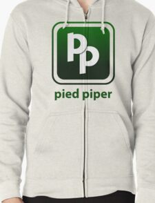 Pied Piper New Logo Shirt for Tech Crunch Disrupt Zipped Hoodie