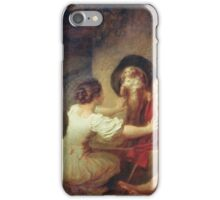 Jean-Honore Fragonard - Education Is All. Dog painting: cute dog, dogs, doggy, lucky, pets, wild life, animal, smile, little small, kids, nature iPhone Case/Skin