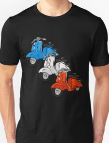 Three vintage scooters Unisex T-Shirt
