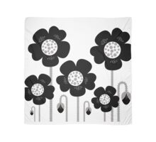 Black and white simple Flower background Scarf