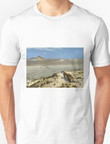 Jean-Leon Gerome - Tiger On The Watch. Mountains landscape: mountains, rocks, rocky nature, sky and clouds, Tiger, peak, forest, rustic, hill, travel, hillside Unisex T-Shirt