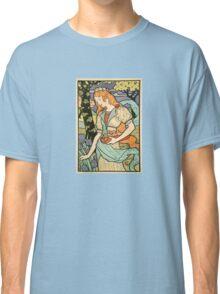 Woman Picking Flowers Classic T-Shirt