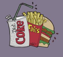 junk food and a diet coke Kids Clothes