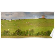 rural ireland scenic nature cows countryside landscape Poster