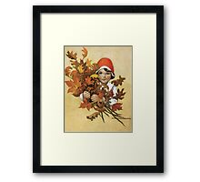 Jessie Willcox Smith - Girl With Fall Leaves. Child portrait: cute baby, kid, children, pretty angel, child, kids, lovely family, boys and girls, boy and girl, mom mum mammy mam, childhood Framed Print