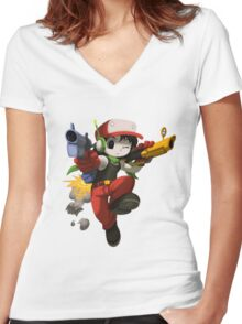 Quote (Cave Story) Women's Fitted V-Neck T-Shirt
