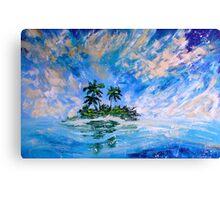 Tropical Island Painting for Sale Oil Canvas Art Large Wall Decor by Artist Ekaterina Chernova Canvas Print