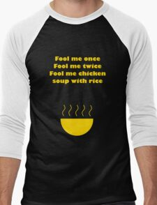 Fool Me Once... Men's Baseball ¾ T-Shirt