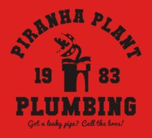 Piranha Plant Plumbing by Bryant Almonte Design