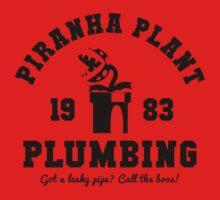 Piranha Plant Plumbing by Bryant Almonte Design