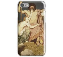 Jean-Auguste-Dominique Ingres - Jupiter And Thetis. Lovers portrait: sensual woman, woman and man, kiss, kissing lovers, love relations, lovely couple, family, valentine's day, sexy, romance iPhone Case/Skin