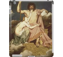 Jean-Auguste-Dominique Ingres - Jupiter And Thetis. Lovers portrait: sensual woman, woman and man, kiss, kissing lovers, love relations, lovely couple, family, valentine's day, sexy, romance iPad Case/Skin