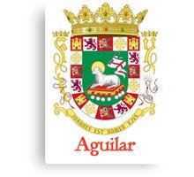 Aguilar Shield of Puerto Rico Canvas Print