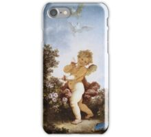 Jean-Honore Fragonard - Love The Sentinel 1790. Child portrait: cute baby, kid, children, pretty angel, child, kids, lovely family, boys and girls, boy and girl, mom mum mammy mam, childhood iPhone Case/Skin