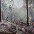 A Wickham Misty Morning Throw Pillow by Lynda Robinson