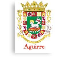 Aguirre Shield of Puerto Rico Canvas Print