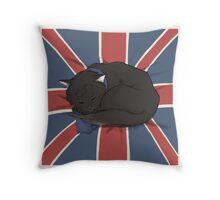 Catlock Throw Pillow
