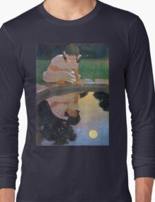 Jessie Willcox Smith - Looking At The Moon S Reflection. Child portrait: cute baby, kid, children, pretty angel, child, kids, lovely family, boys and girls, boy and girl, mom mum mammy mam, childhood Long Sleeve T-Shirt