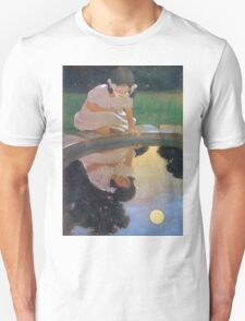 Jessie Willcox Smith - Looking At The Moon S Reflection. Child portrait: cute baby, kid, children, pretty angel, child, kids, lovely family, boys and girls, boy and girl, mom mum mammy mam, childhood Unisex T-Shirt