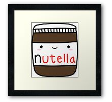 Nutella kawaii. Framed Print